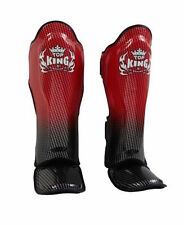 "TOP KING PROFESSIONAL SHIN GUARD ""SUPER STAR""-GEINUINE LEATHER-TKSGSS-01-RED"