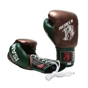 REBELS × ISAMI official gloves kick boxing Muay Thai Lace up made in Japan BTO