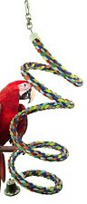 1051 Large Rope Boing Coil Swing Bird Toy parrot cage conure amazon african grey