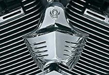 Harley Davidson Softail Dyna Electra Glide Road King CHROME HORN COVER