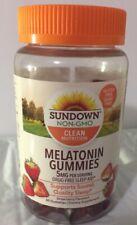 SUNDOWN NON-GMO MELATONIN 5 mg, 60 GUMMIES, STRAWBERRY FLAVORED EXP 09/2021