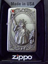 Zippo Sturmfeuerzeug Feuerzeug Feuerzeug Lady Liberty 3D Emblem