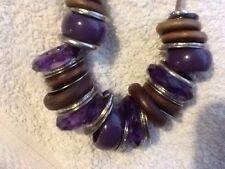 Purple & Silver Costume Necklace