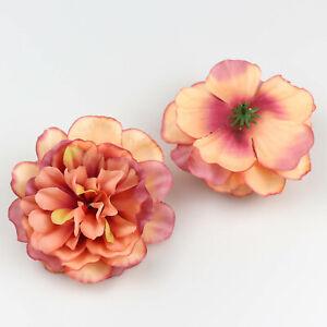 Fake Big Peony flowers heads Bulk Silk Rose Artificial Flower wall DIY Make