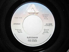 THE KINKS Low Budget/Superman 45 USA 70s HARD ROCK Ray + Dave Davies oop  L@@K