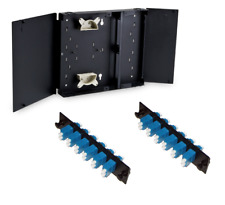 Fiber Optic 24 Port Smf Fdp Lc/Upc Wall Mount Patch Panel, Comes w/Adapter Strip