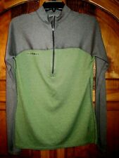 Mammut Polartec Jacket 1/2 Zip Performance Midweight Base Layer Green Gray Sm!