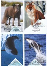 Russia 2019 Fauna Red Book Russia Red Dog Narwhale Arctic Fox White-Beaked Do