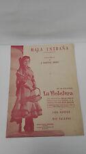 Antigua Partitura Cancion Mala Entraña Pelicula La Violetera Sara Montiel 1957