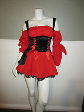 Lady Captain Pirate Costume with Hat  Sassy Pirate Cosplay Size SMALL