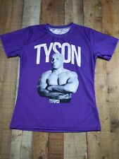 Mike Tyson Polyester Spandex Compression Shirt Men's Large Purple GUC Boxing
