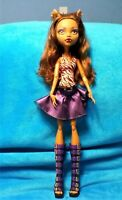 MONSTER HIGH FRIGHTFULLY TALL 18 INCH CLAWDEEN WOLF DOLL, GREAT CONDITION