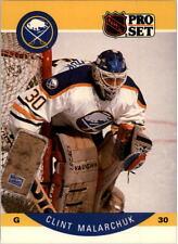 1990-91 PRO SET HOCKEY CLINT MALARCHUK CARD #25 BUFFALO SABRES NMT/MT-MINT