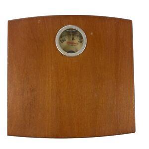Vintage Soehnle Wooden Analog Dial Mechanical Bathroom Scale Germany