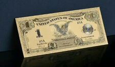 <MINT PROOF>GOLD 1899 Series$1 DOLLAR Black EAGLE Banknote Rep*~US SELLER!