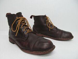 Allen Edmonds Normandy Burgundy Brown Soft Leather Ankle Boots Size Men's 11D