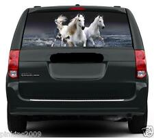Horses running in the Sea Car or Caravan Window Vehicle Graphic Sticker/Decal
