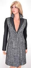NEW KAREN MILLEN CR020 TAILORED TWEED WOOL BLEND HERRINGBONE MULTI COAT~2 6 34