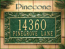 Whitehall Pinecone Address Personalized Marker Plaque Sign Wall Mount 17 Colors
