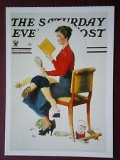POSTCARD ADVERT SATURDAY EVENING POST F/PAGE  DATED  25 NOV 1953  - THE JOY OF P