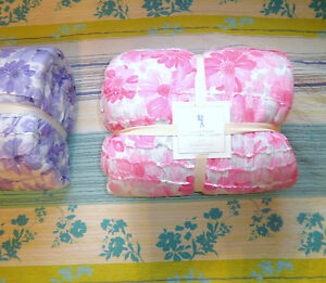 Pottery Barn Kids Quilt Twin NWT Purple Pink Puffy Soft Pure Cotton Voile Floral