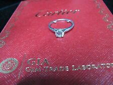 Cartier Platinum Solitaire Diamond Ring