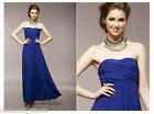 Cocktail Wedding Formal Ball Evening Party Maxi Dress in Navy Pink Orange 5349