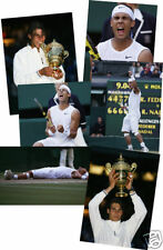 Rafael Nadal Wimbledon 2008 Winner Set 6x4 Photos