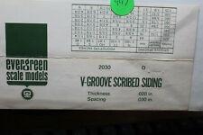 "Evergreen Scale Models #2030~V-Groove~.030"" Spacing~.020"" Thick~N,HO,S,O- (997)"