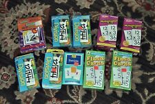 Lot of Flash Cards Math multiplication division wipe off subtraction fractions