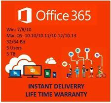 Microsoft Office 365 2016/2019 PRO PLUS Licenza A Vita 5 Dispositivi 5TB