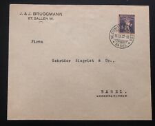 1927 Basel Switzerland Cover Zionist Congress Domestic Used