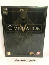 CIVILIZATION 5 V LIMITED COLLECTOR'S EDITION - PC - NUOVO SIGILLATO ITA - NEW