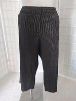 Women's Avenue Sz 26 Cotton Blend Stretch Black/Tan Summer Capri