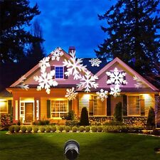 XMAS Outdoor Snowflake Laser LED Landscape Light Garden Holiday Projector WHITE