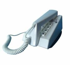 Steepletone Retro Style Push Button Dial Trim Phone Corded Telephone White