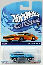 Hot Wheels '85 Honda CR-X Cool Classics Yellow Card #BDR32 New NRFP Blue 1:64
