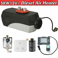 12V 5000W LCD Monitor Air diesel Fuel Heater 5KW for Trucks Bus Boats Car