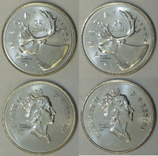 1993 and 1994 Canada 25 Cents BU