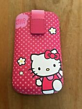 HELLO KITTY UNIVERSAL LEATHER PULL-UP CASE POUCH POCKET FITS APPLE IPHONE 3 4 5