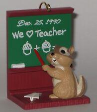 Hallmark Keepsake Ornament Teacher - Chipmunk with Pointer at Chalk Board