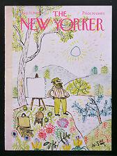 New Yorker COVER Aug 23 1969 W. Steig, plein air artist ADD'L COVERS SHIP FREE
