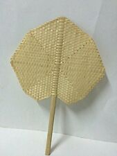 "7.75""X12.5"" Thai handmade manual fan for relax of hot weather Hand Fans Vintage"