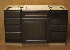 """Kraftmad Peppercorn Suede Cherry Bathroom Vanity Sink Cabinets Set 54"""""""