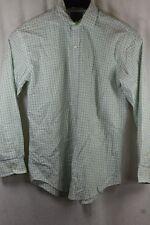 BOYS THOMAS DEAN WHITE GREEN CHECK LS BUTTON FRONT SHIRT LARGE 14 16 NWT $55