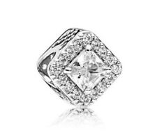 NEW! Authentic Pandora Bead Openwork Geometric Radiance Clear CZ Charm #796206CZ