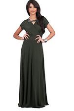 Koh Koh Women's Elegant Cap Sleeve Chest Crossover Cocktail Long Maxi Dress XL