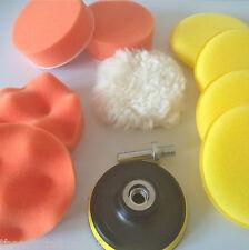 "6pcs 3"" polishing buffer pad set, drill adapter and 4 car waxing pads polishing"