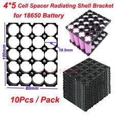 10Pcs 18650 Battery 4x5 Cell Spacer Radiating Shell Plastic Holder Bracket O7W1