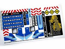 REPLACEMENT STICKERS for Lego 8052 Container Truck + Plaque sticker + Extra's